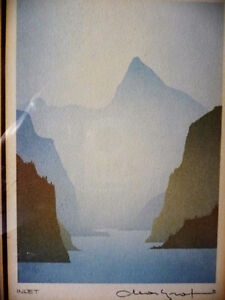 "Mountain Silhouettes by Peter, Traudl Markgraf ""Inlet"" Signed Stratford Kitchener Area image 3"