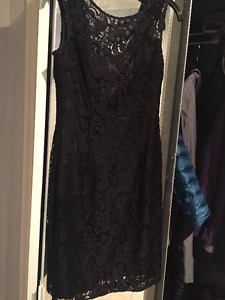 Black bridesmaid dress from Le Chateau. Size small. Worn once.