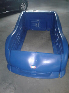 Little Tikes Blue Car Bed for toddlers.\