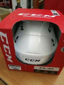 casque de hockey ccm s 51-56cm couleure blanche