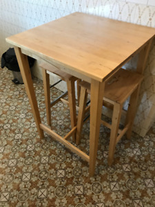 Ikea bar table and chairs