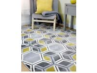 RUG NEW LARGE RETRO RUG NEW SPRING COLOURS