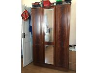 Walnut solid wardrobe