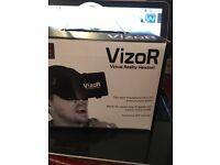 Vizor reality headset
