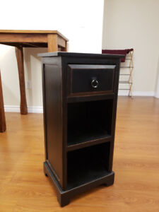 Tall End Table with Drawer and Shelf