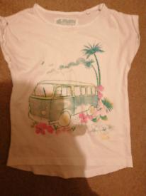 Green camper van print tshirt