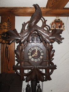 Cuckoo -Quail  Clock 1910 Black Forest  German