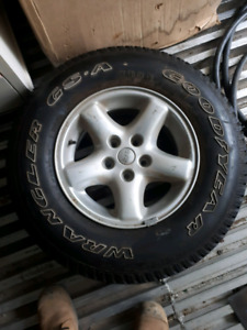 Jeep tj ecco spare tire brand new rubber.