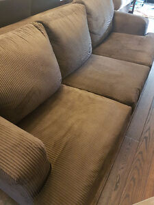 Brown Microfibre Couch (and Matching Chair)