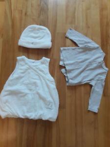 Ensemble robe de qualité 3 morceaux - fille - 9 mois