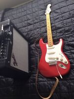 Squier Stratocaster and Fender Mustang II