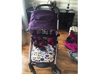 Mamas and papas sola purple plum pushchair