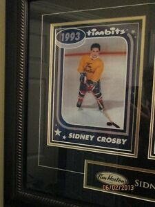 Sidney Crosby Tim Hortons/Pittsburgh Framed Collectible