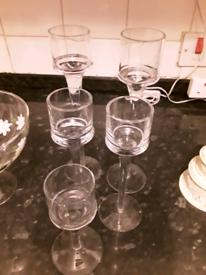 Glass t-light holders