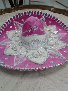 22'Pink AdultMexican MariachiHat Sombrero Charro Embroidered