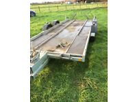 Trailer car transporter 6' X 17' load area.