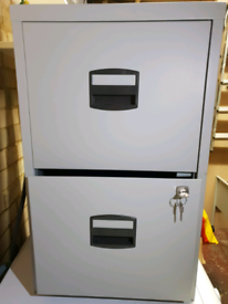 Filing cabinet with keys