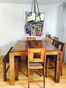 ***SOLID WOODEN DINING TABLE SET***