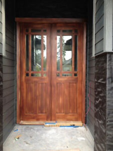 Wooden Entrance Door System Bargin!! No reasonable offer refused