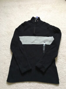 New with tag Ralph Lauren polo 1/2 zip sweater men large; gucci