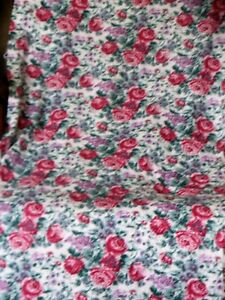 almost 6 yards floral flannel