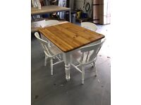 Beautiful Farm House Solid Pine Table and 4 Chairs