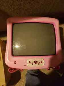 Kids pink disney tv good working condition