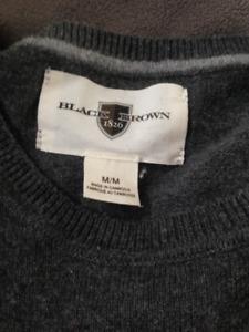Men's Black Brown Sweater