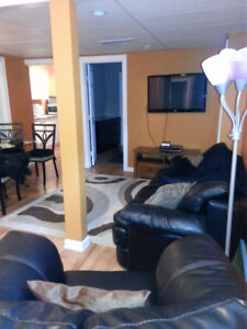 All-Inclusive fully-furnished 2 bed basement suite in Timberlea