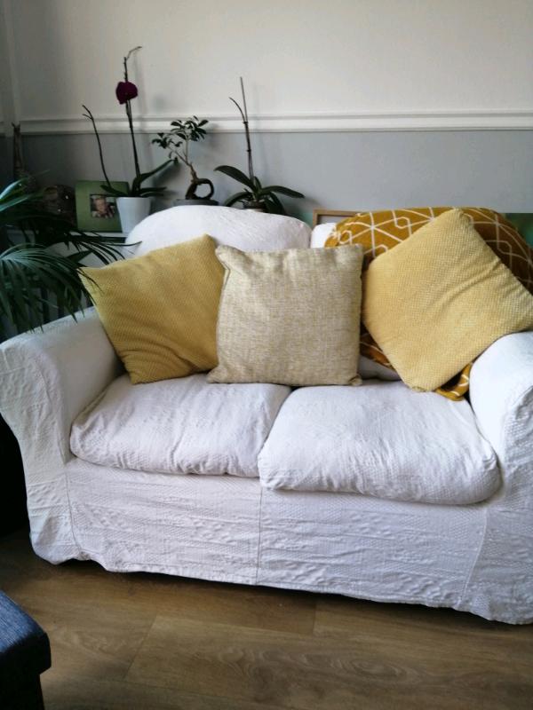 2 Seater White Sofa | In Bognor Regis, West Sussex | Gumtree