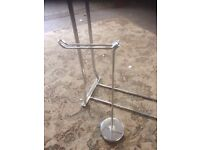 toilet roll holder and towel rail chrome