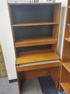 A Nice Desk Unit With Upper Shelves and Drawer