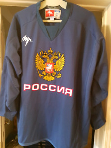 Team Russia practice hockey  jersey size Medium fits like Large