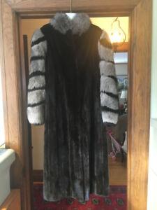 Manteau de fourrure vison noir/Black mink coat