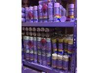 Wholesale Joblot Bankrupt Clearance Stock Spray Paint Hundreds of Cans Carboot Market Stock