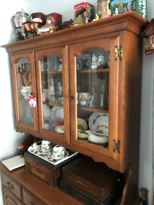 Maple Table and Buffet, Hutch