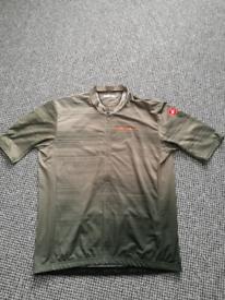 Castelli Cycling Jersey and Bib Shorts + Wind Vest.