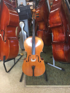 Cello 3/4 Flamed Maple with Case and Bow