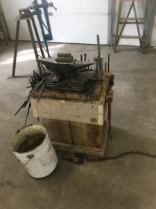 home made propane forge and anvil