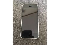 White iPhone 5C 32GB (EE), Charger and Case
