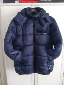 SUPERDRY Winter Sport Racing Camo Puffer Jacket Marine Blue 3XL