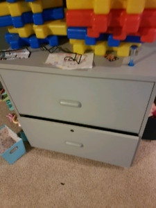 Two drawer legal size filing cabinet