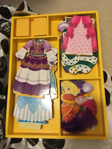 Wooden dress up princess