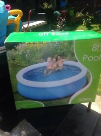 8ft pool boxed