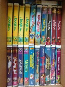Walt Disney VHS lot 63 cassettes
