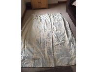 Laura Ashley neutral damask print curtains