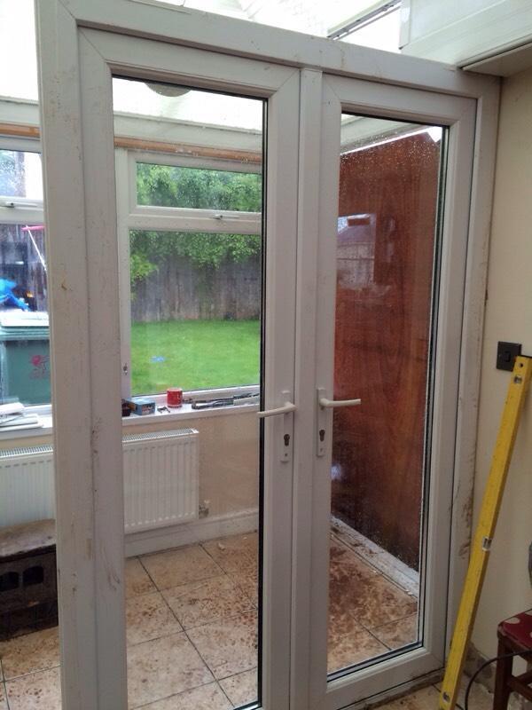 Upvc french doors in llanishen cardiff gumtree for Reclaimed upvc doors