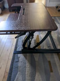 VIVO Height Adjustable 36 inch Stand up Desk Converter