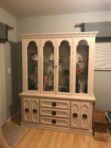 Rustic China and Display Cabinet $60 OBO