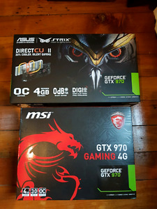 Asus Strix gtx 970 and MSI gtx 970 for sale
